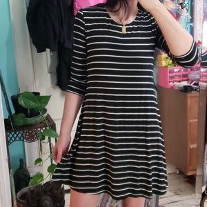 Long sleeved Striped Dress